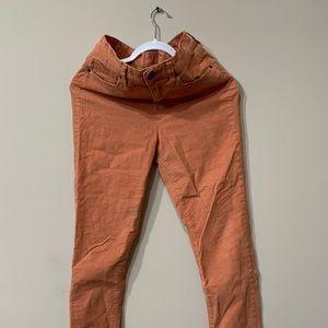 H&M orange corduroy skinny jeans